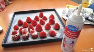 fraises père noël à la crème fouettée