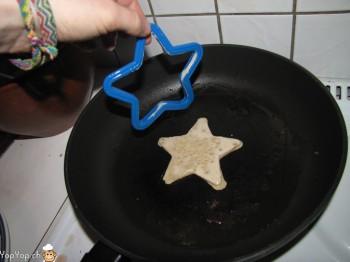 crêpe en forme d'étoile