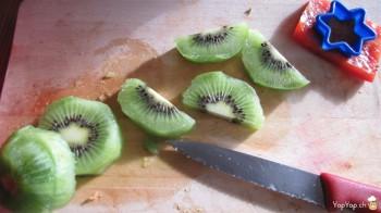 découpe du kiwi