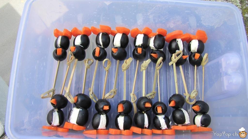 Recette des pingouins amuse bouche la cuisine - Entree de noel facile et pas cher ...