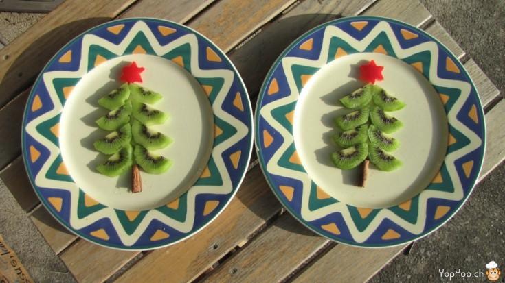 Sapin de Noël en kiwi