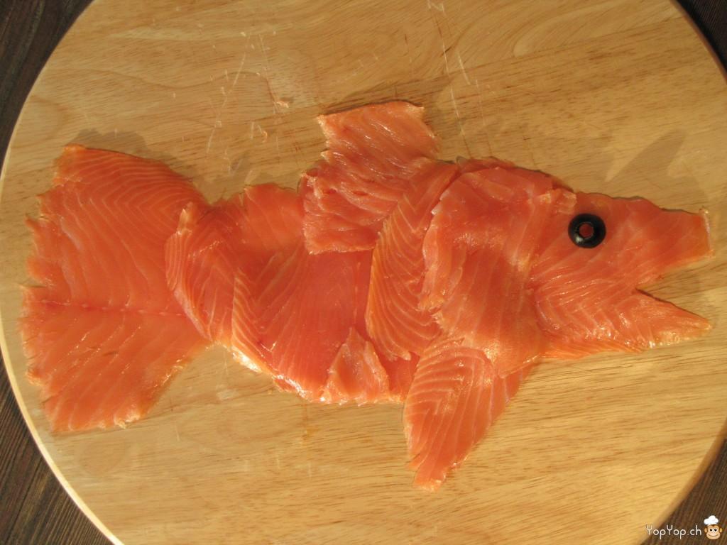 comment présenter le saumon pour un buffet