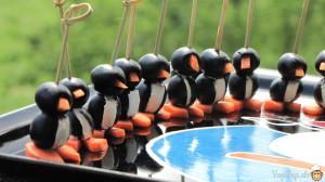 une aligée de pingouins