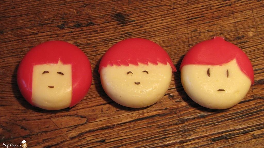 3 visages et coiffure en babybel