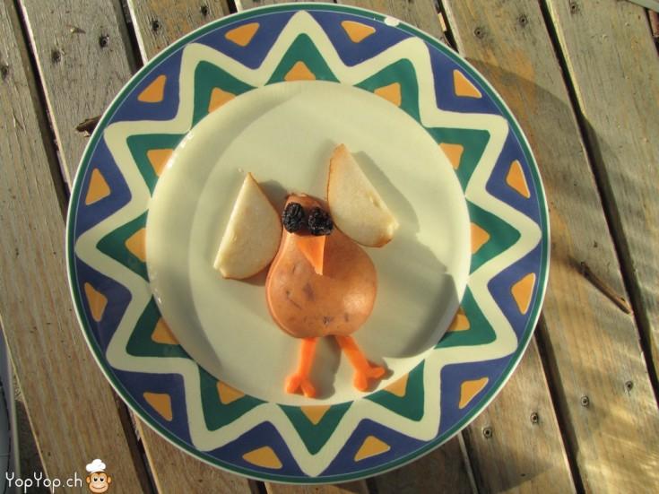 cuisine amusante poire en poule