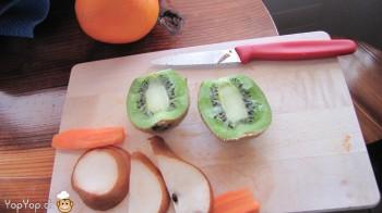 kiwi pour faire une crète verte de poire en poule punk