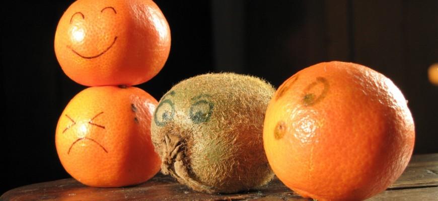mandarines à visage