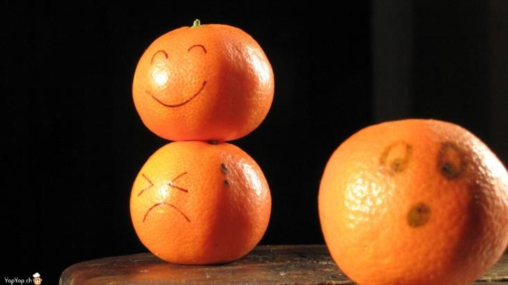 comment faire un visage sur une mandarines