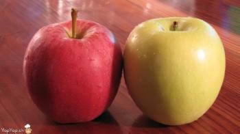 pomme rouge et verte