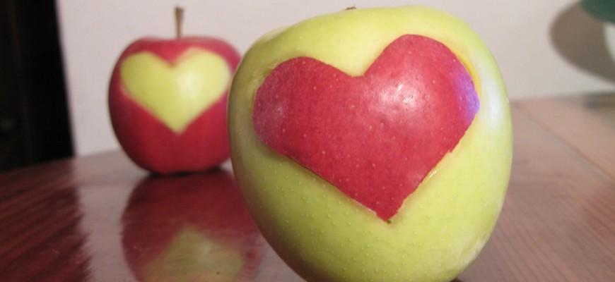7-coeur en pomme pour la Saint-valentin