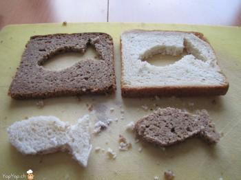 poisson noir et blanc en pain