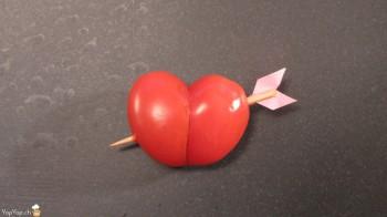 Recette facile pour la st valentin un coeur transperc d 39 une fl che - Coeur pour la saint valentin ...