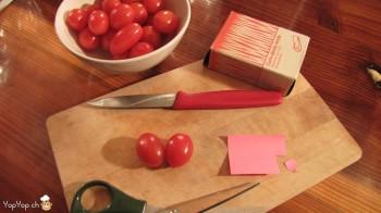 matériel pour le coeur en tomate