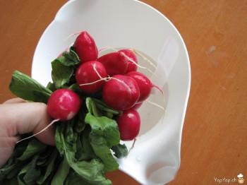 3-radis à nouveau gonflé d'eau