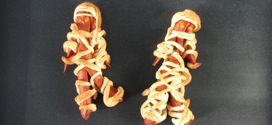 Recette des saucisses momies de pâte feuilletée