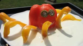 Pieuvre en poivron