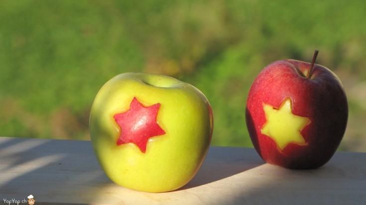en-cas sain les pommes étoilées