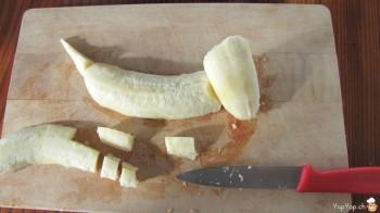 découpage patte de chien banane