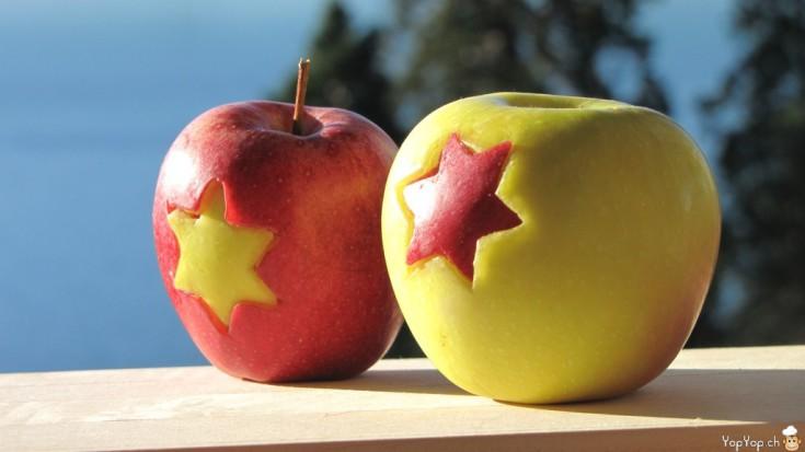 en-cas sain pomme étoile