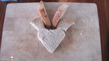 manger du renne: 10-marche à suivre renne rudolf en pain toast