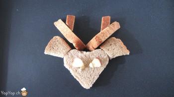 manger du renne: 14-marche à suivre renne rudolf en pain toast