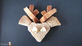 manger du renne: 15-marche à suivre renne rudolf en pain toast