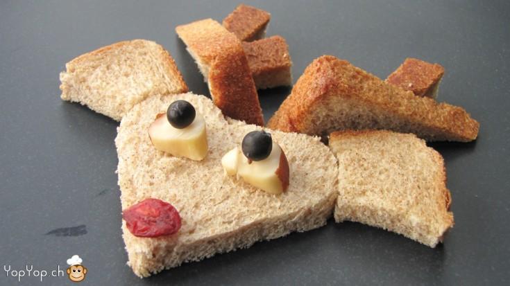 manger du renne: 18-marche à suivre renne rudolf en pain toast