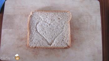 manger du renne: 3-marche à suivre renne rudolf en pain toast