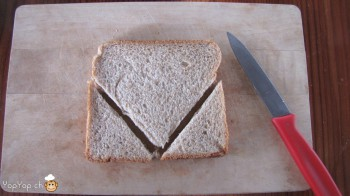 manger du renne: 4-marche à suivre renne rudolf en pain toast