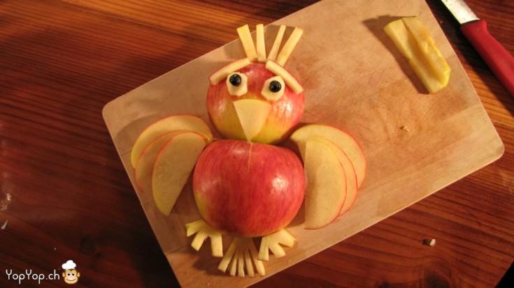 oiseau en pomme peureux