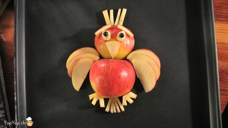 oiseau en pomme