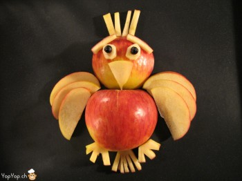 -oiseau en pomme sourcil