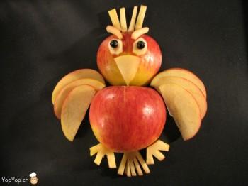 oiseau en pomme angry bird