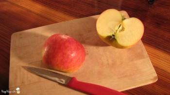 2-trancher la pomme rouge