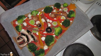 repas de Noël pas cher 5-pizza sapin de Noël