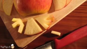6-patte d'oiseau en pomme