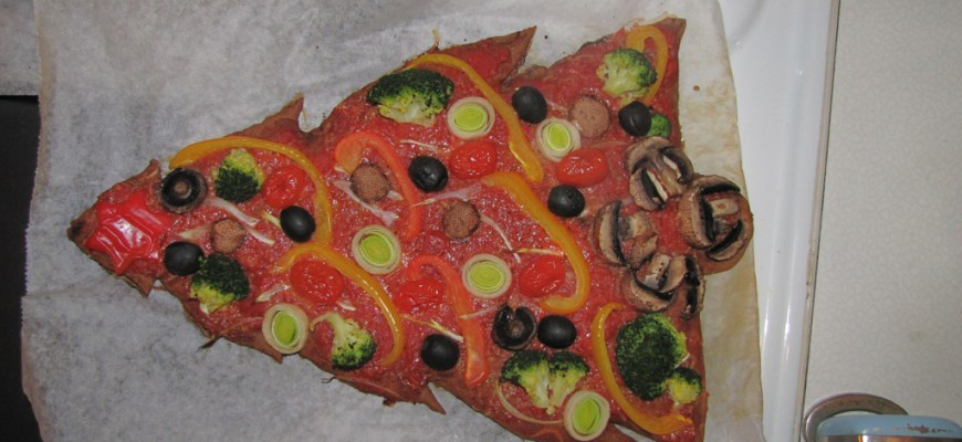 repas de Noël pas cher 8- repas de Noël pas cher la pizza sapin de Noël