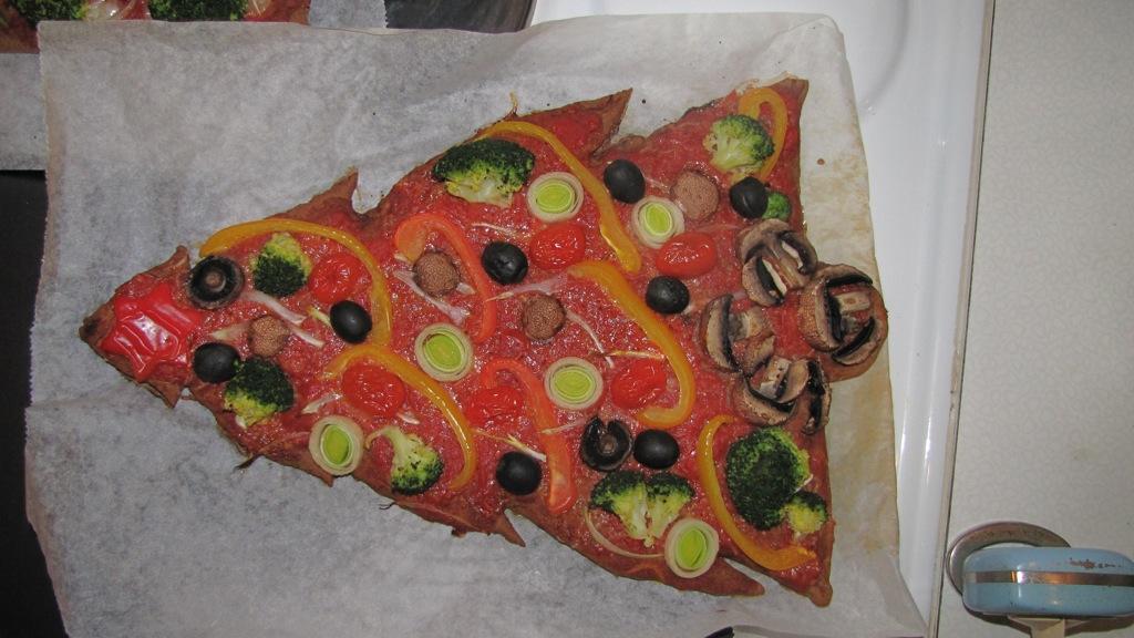 Boule De Noel Pizza Decoration