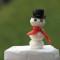 Amuse bouche mozzarella: le bonhomme de neige