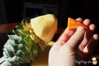 7-dessert ananas fixer le bec sur l'oiseau ananas