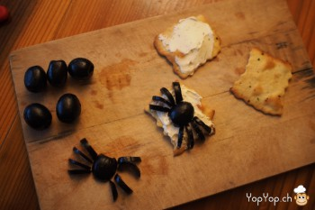 3-recette halloween amuse bouche olive araignée