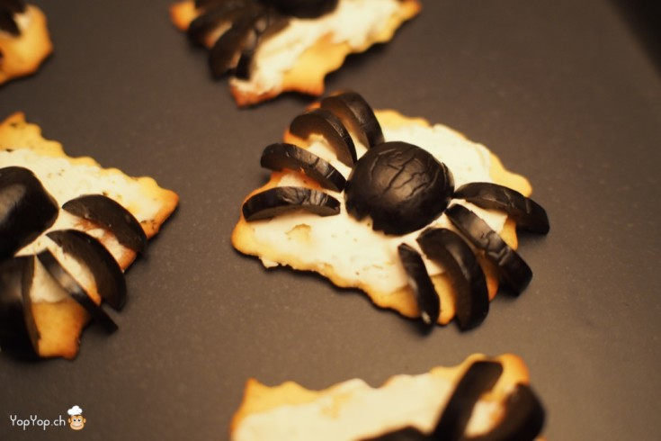 4-recette halloween amuse bouche olive araignée