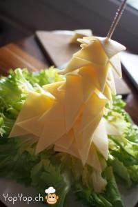 13-amuse-gueule de Noël sapin de noël en fromage et salade