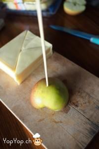 6-amuse-gueule de Noël en fromage base en pomme