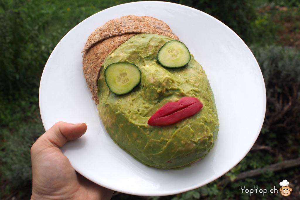 amuse-bouche masque de beaute comestible