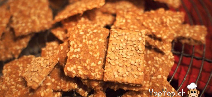 crackers epeautre et sesame comparaison industriel et maison