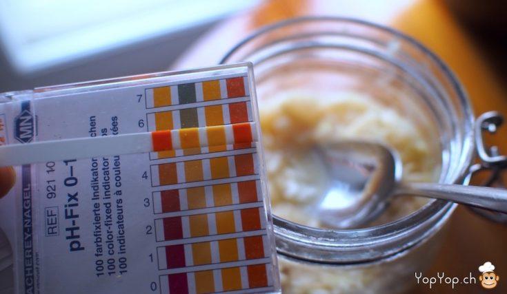 papier PH 4 acidité lacto-fermentation choucroute réussie