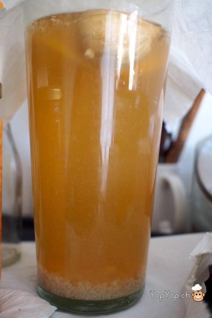Kéfir d'eau au sucre de canne brut complet