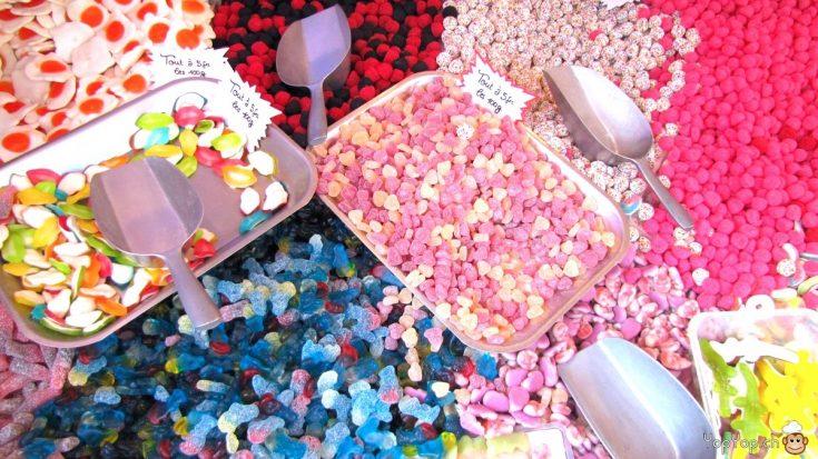 sucrerie bonbons colorés