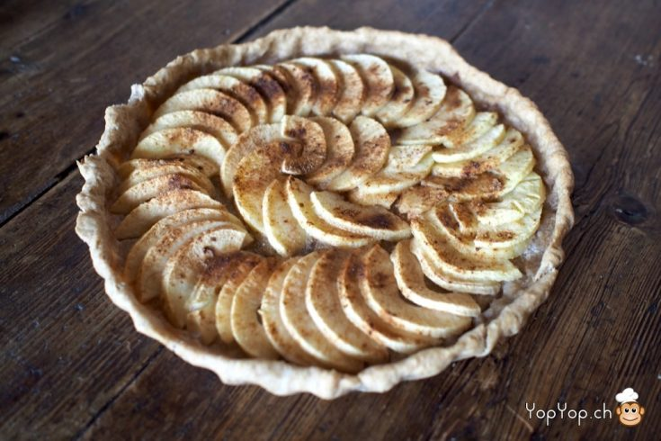 13-tarte aux pommes canelle pate brisée